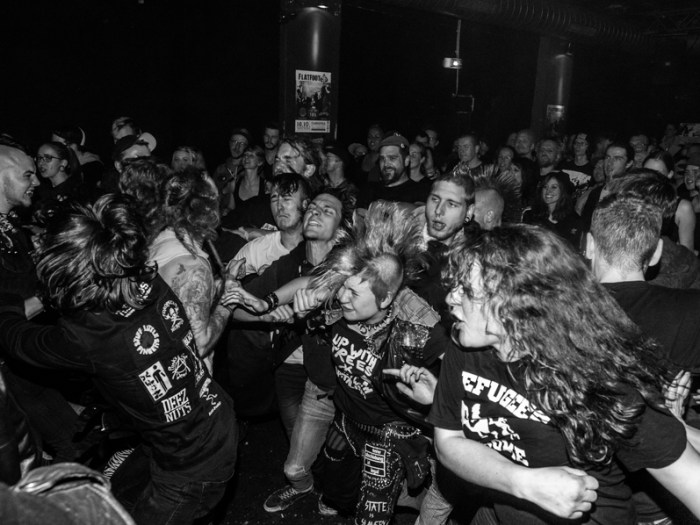 Crowd at Aggressive Punk Produktionen Labelfest at Cassiopeia