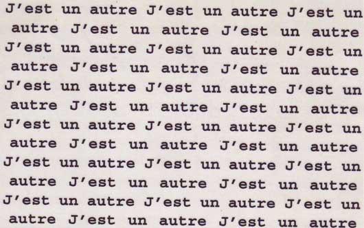 j'est un autre - omaggio a Rimbaud