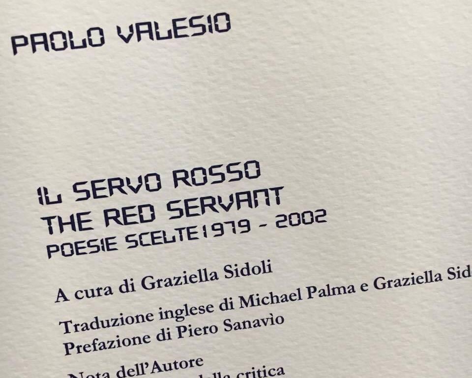 PAOLO VALESIO SR copertina