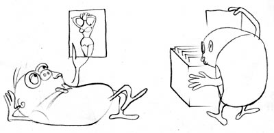 INSIDE MORGAN'S HEAD model sheet