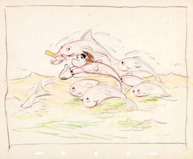 Tom Oreb gag drawing