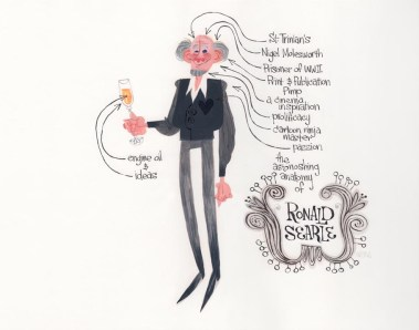 """""""The Astonishing Anatomy of Ronald Searle"""" by Willie Real"""