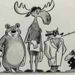 [All text in this essay by Darrell van Citters] Rocky and Bullwinkle were originally created and drawn by Jay Ward's artistic business partner, Alex Anderson, as two of a handful of animal characters for an unsold show they had developed together in 1950 called The Frostbite Falls Review.