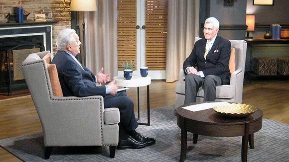 John Canemaker (right) with TCM host Robert Osborne.