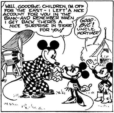 Mickey Mouse comic by Floyd Gottfredson