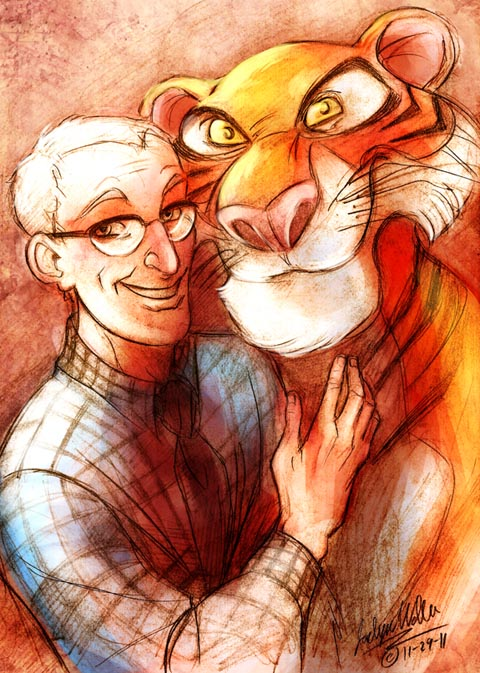 Milt Kahl and his Tiger