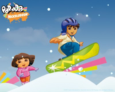 Go Diego Go Snowboard Wallpaper - Go Diego Go Free Wallpaper - Cartoon Watcher - free Go Diego ...