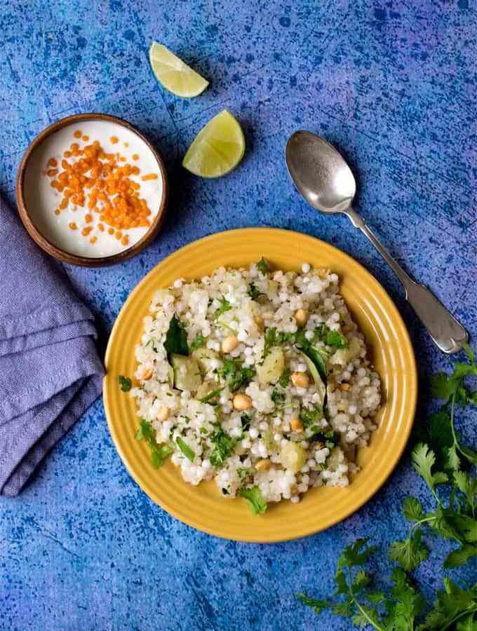 How to make perfect non-sticky Sabudana Khichdi / tapioca pearl pilaf