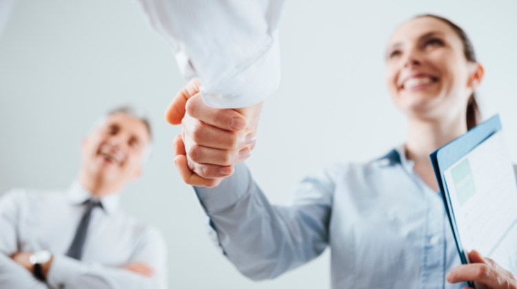 Shaking hands, agreement, hired, employee, announcement, partnership, interview, business deal
