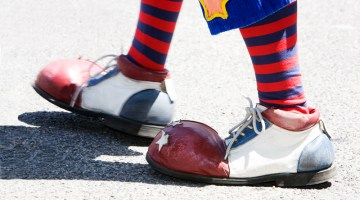 clown, clown feet, feet, shoes, clown shoes, colorful