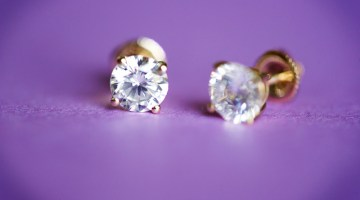 diamond earrings, diamonds, earrings