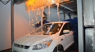 chemical application, lava bath, foam, wax, carwash