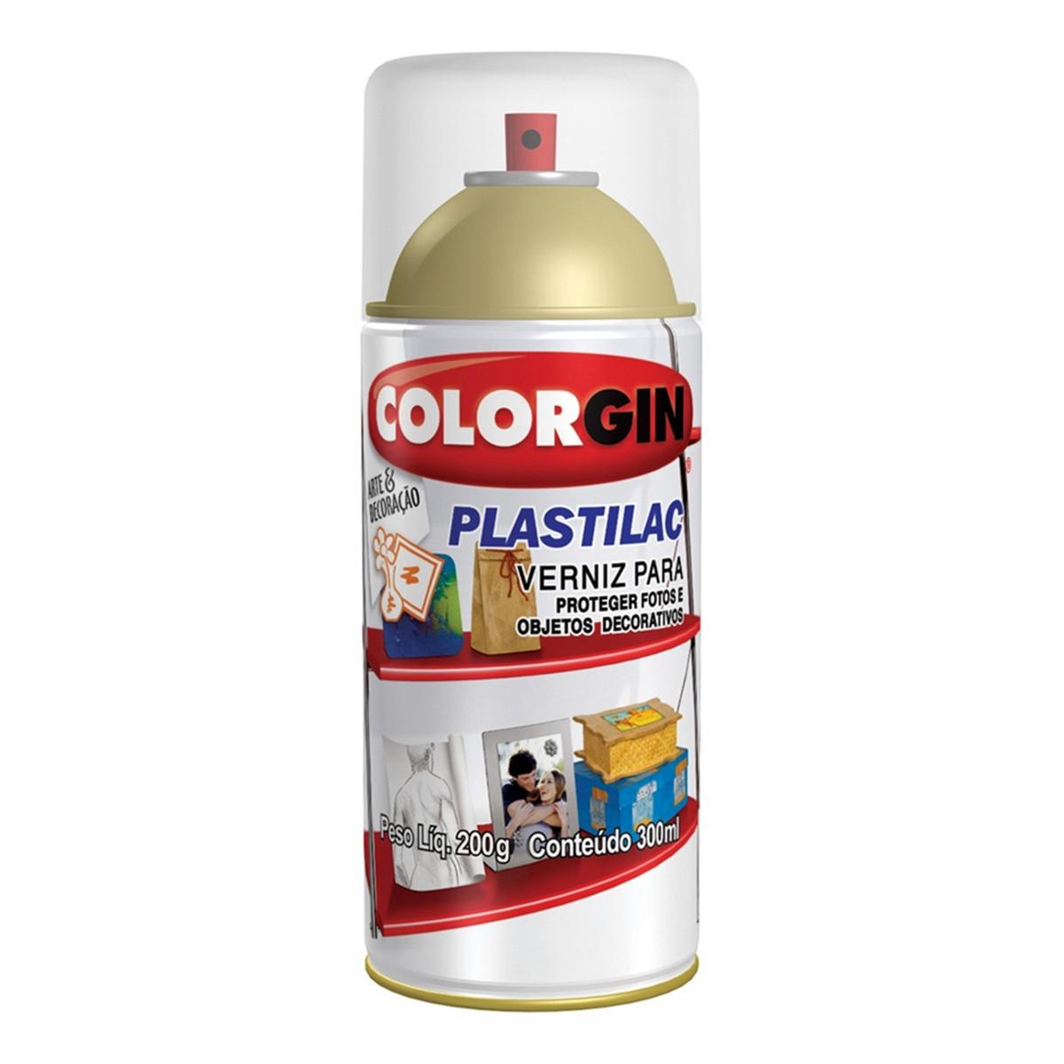 Verniz Spray Colorgin Plastilac – Incolor Brilhante 300ml