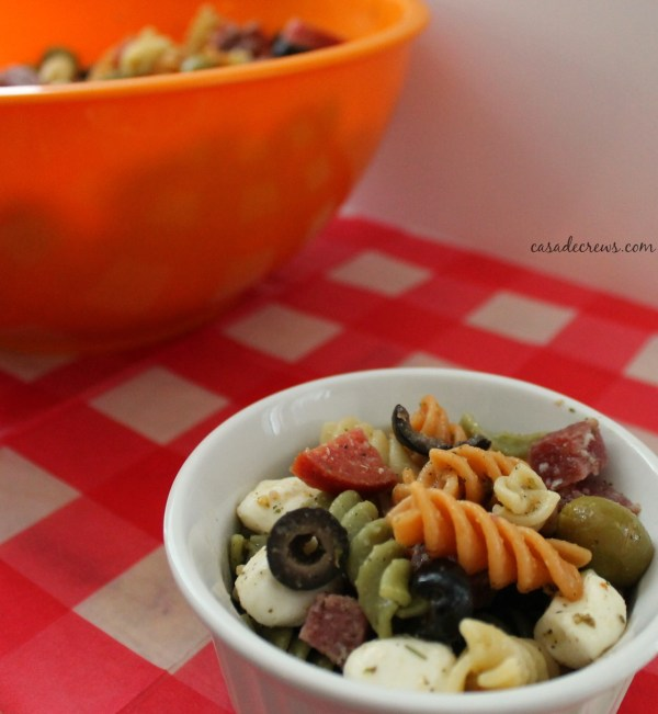 Italian Pasta Salad #summer #picnicgame @casadecrews