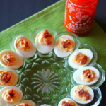 Bacon and Sriracha Deviled Eggs for #SundaySupper