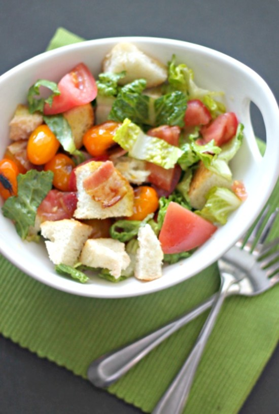 BLT Panzanella Salad #SundaySupper #GalloFamily