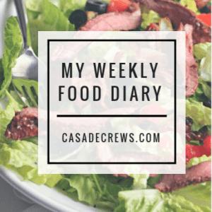 My weekly food diary: week one