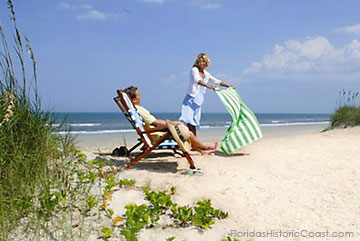 Couple on St Augustine beach