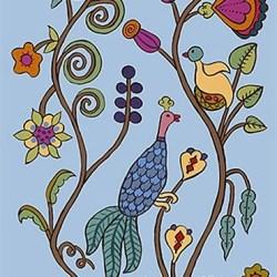 Kristin Nicholas - Garden Birds_Casart coverings temporary wallpaper