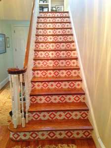 Casart custromer_Faux Tile Stair risers-after