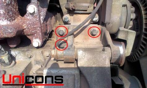 Support mocujący alternator w Case 580 k, SK, SLE, SM
