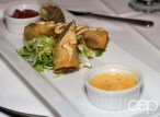The cheese burger spring rolls at The Martini House in Burlington, ON