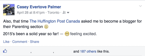31 Things I Know Now That I'm 31 PREAMBLE — Because Life is Full of Lessons — Casey Palmer Facebook Screenshot