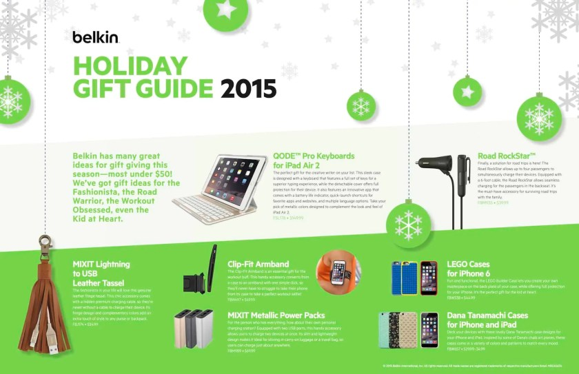 A Case Cringle Christmas, Day 6 — In Security Mode Thanks to Belkin Qode! — Belkin Holiday Gift Guide 2015