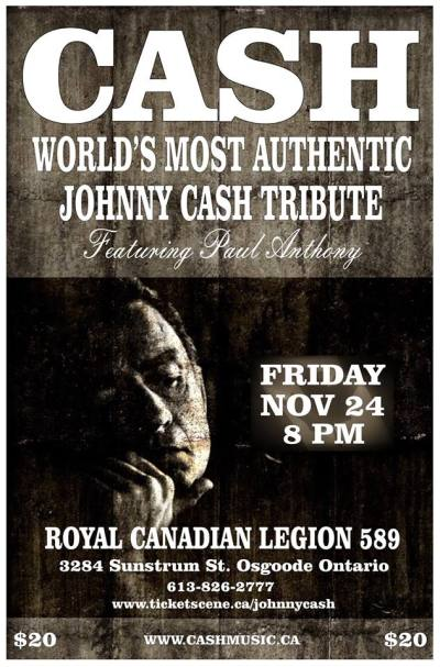 Johnny Cash Tribute Band - Canada Tour Dates | Cash Music