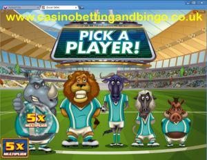 Soccer Safari Bonus Game Screenshot