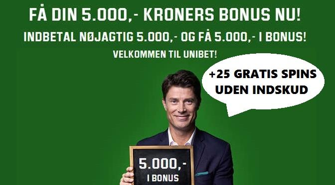 Største velkomstbonus på Unibet Casino til nye spillere