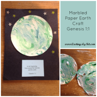 Marbled Paper Earth Craft Genesis 1:1