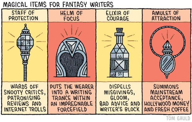 magical items for fantasy writers by tom gauld