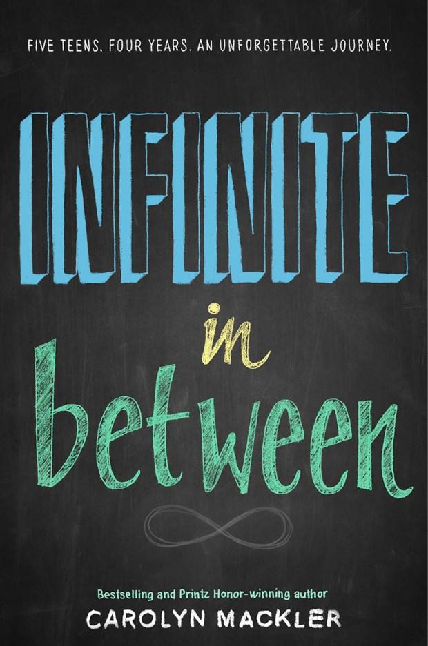 Infinite In Between by Carolyn Mackler; design by Michelle Taormina; art by Matthew Allen