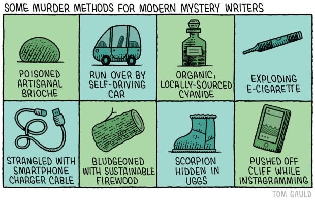 modern murder methods Tom Gauld