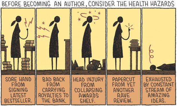 Author Health Hazards Tom Gauld