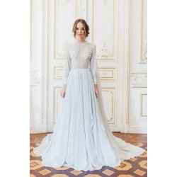 Gallant Crystal Embroidery Cathytelle Blue Cape Wedding Gown Silk Crystal Embroidery Blue Wedding Dress Meaning Blue Wedding Dress Designer Silk Blue Cape Wedding Gown wedding dress Blue Wedding Dress
