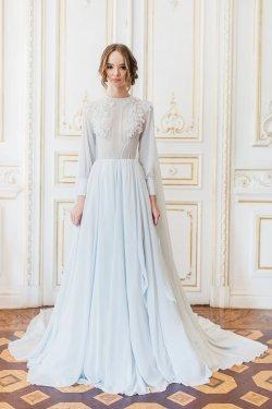 Small Of Blue Wedding Dress