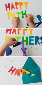 bunting fathers day card