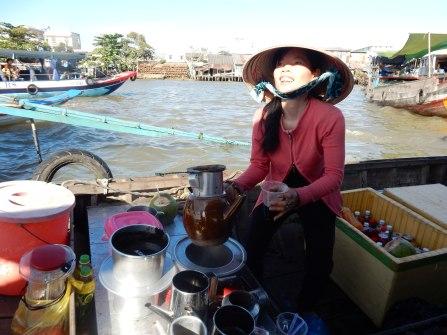 Mekong River floating market, Vietnam