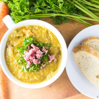 Slow-Cooker Split Pea Soup | Catz in the Kitchen | catzinthekitchen.com #SlowCooker