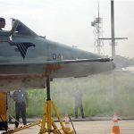 Primeiro tiro de metralhadora 20 milímetros a partir de uma aeronave AF-1 da Marinha