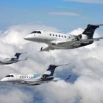 Embraer apresenta pela primeira vez o protótipo do Legacy 500 na EBACE