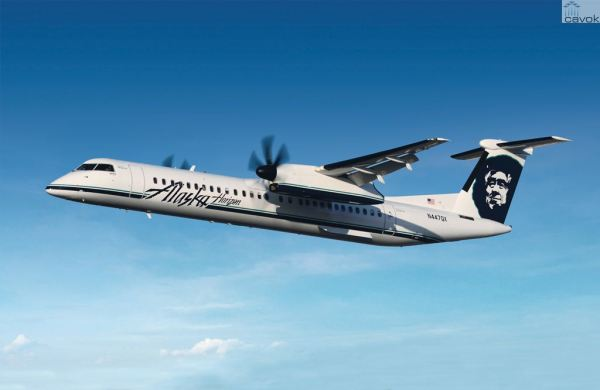 Um turboélice Bombardier Q400 NextGen da Horizon Air. (Foto: Bombardier)