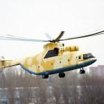 Primeiro helicóptero Mi-26T2 para Argélia inicia testes de voo