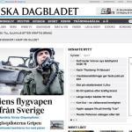 VÍDEO: pilotos da FAB aprendendo a voar no Gripen são destaque na imprensa sueca