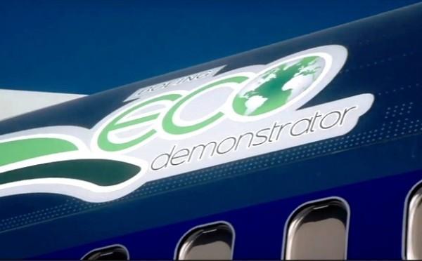 A Boeing e a Embraer ao unir forças no programa Eco Domonstrator. (Foto: Boeing)