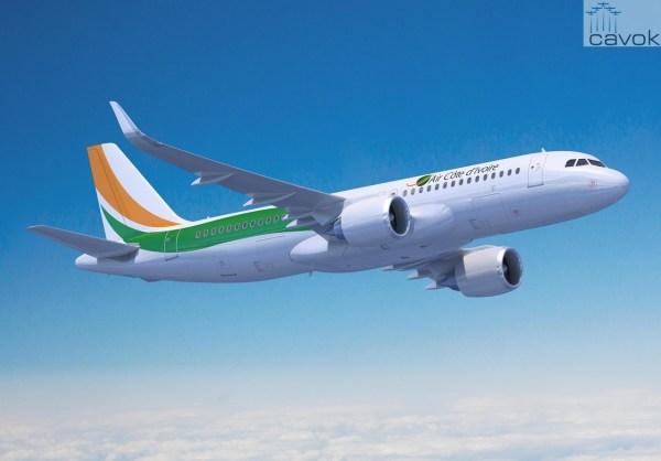 A adicional aeronave A320neovai expandir a pferta de assentos e rotas da Air Cote D'Ivoir. (Foto: Fixion / Airbus)