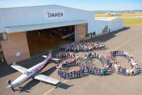 A 800ª aeronave turboélice TBM, um modelo TBM 850, que será enviado aos EUA. (Foto: Daher)