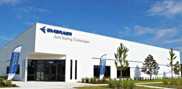 A nova unidade de fabricação de assentos da Embraer, em Titusville, Florida.